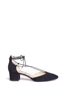 Sam Edelman'Loretta' suede ankle tie d'Orsay pumps