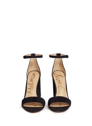 Front View - Click To Enlarge - Sam Edelman - 'Yaro' ankle strap suede sandals