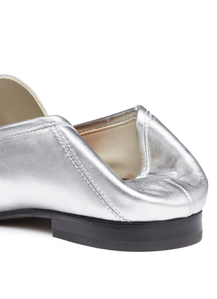 Detail View - Click To Enlarge - Sam Edelman - 'Loraine' horsebit metallic leather loafers