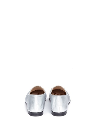 Back View - Click To Enlarge - Sam Edelman - 'Loraine' horsebit metallic leather loafers