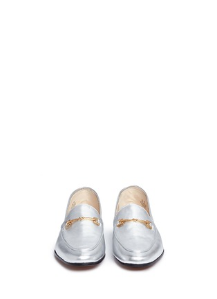 Front View - Click To Enlarge - Sam Edelman - 'Loraine' horsebit metallic leather loafers
