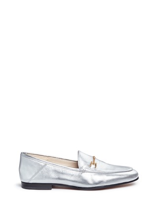 Main View - Click To Enlarge - Sam Edelman - 'Loraine' horsebit metallic leather loafers