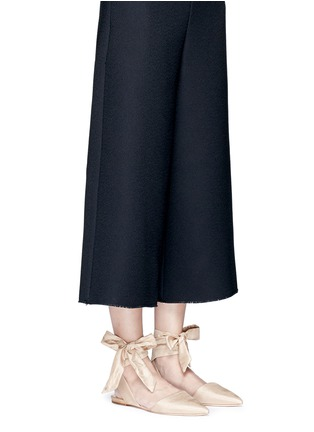 Figure View - Click To Enlarge - Sam Edelman - 'Brandie' ankle tie satin flats