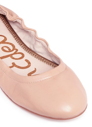 Detail View - Click To Enlarge - Sam Edelman - 'Fallon' ankle tie leather ballet flats