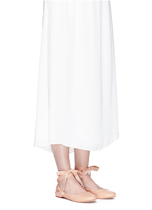 Figure View - Click To Enlarge - Sam Edelman - 'Fallon' ankle tie leather ballet flats