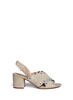 Sam Edelman'Seana' grommet scalloped suede sandals
