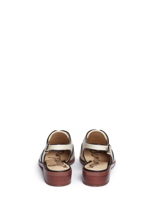 Back View - Click To Enlarge - Sam Edelman - 'Damian' toe cap slingback leather derbies