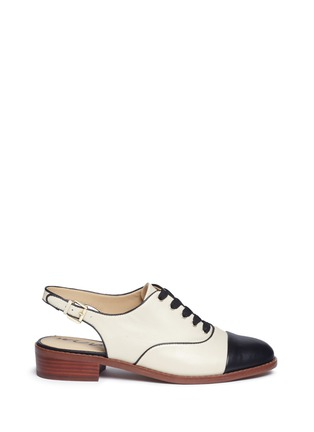 Main View - Click To Enlarge - Sam Edelman - 'Damian' toe cap slingback leather derbies