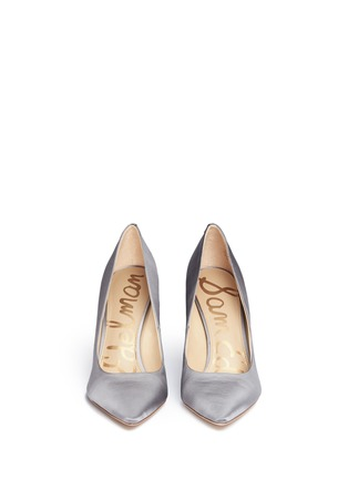 Front View - Click To Enlarge - Sam Edelman - 'Hazel' satin pumps