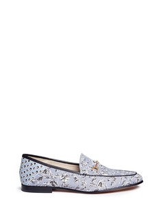 Sam Edelman'Loraine' horsebit floral print loafers