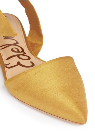 Detail View - Click To Enlarge - Sam Edelman - 'Brandie' ankle tie satin flats