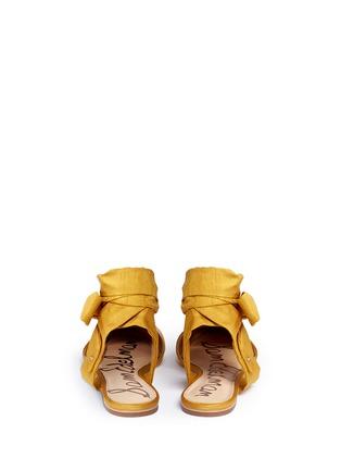 Back View - Click To Enlarge - Sam Edelman - 'Brandie' ankle tie satin flats