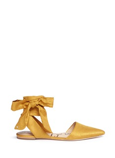 Sam Edelman'Brandie' ankle tie satin flats