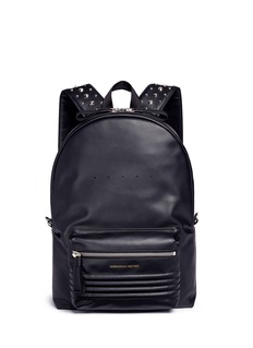 Alexander McQueen Stud strap leather backpack