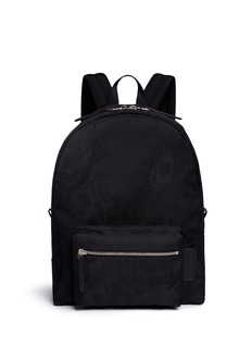 Alexander McQueen Skull camouflage jacquard backpack