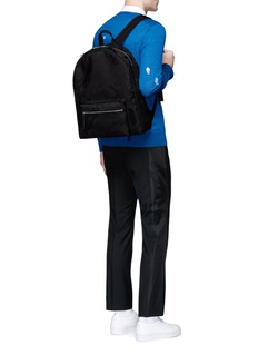 Alexander McQueenSkull camouflage jacquard backpack