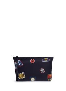 Alexander McQueenCrest print zip pouch