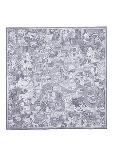 Alexander McQueen'McQueen Loves London' silk chiffon scarf