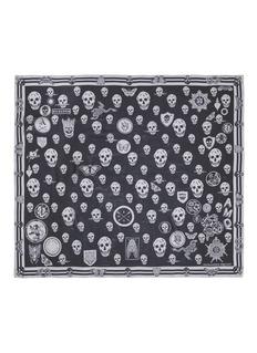 Alexander McQueenSkull badge silk scarf