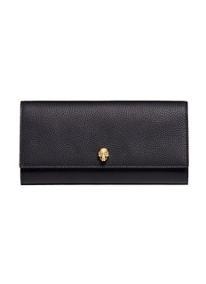 Alexander McQueenSkull leather travel wallet