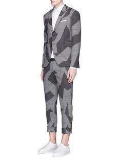 Neil BarrettGlen plaid geometric jacquard cropped pants