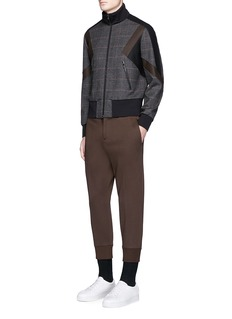 Neil Barrett'Retro Modernist' skinny fit glen plaid track jacket