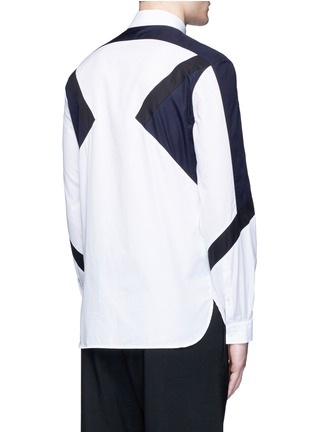 Back View - Click To Enlarge - Neil Barrett - 'Retro Modernist' colourblock cotton poplin shirt