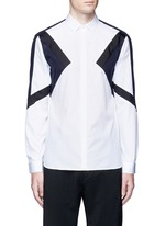 'Retro Modernist' colourblock cotton poplin shirt