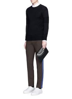 Neil BarrettSkinny fit satin stripe tuxedo pants