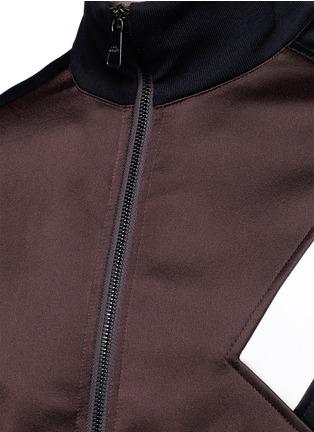 细节 - 点击放大 - NEIL BARRETT - 拼色几何图案缎面夹克