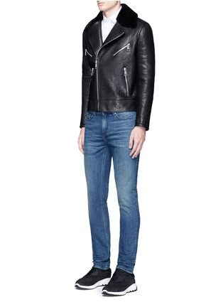 Figure View - Click To Enlarge - Neil Barrett - Skinny fit cotton denim jeans