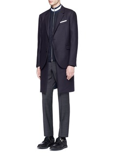 Neil Barrett Compact virgin wool-blend blazer overlay coat
