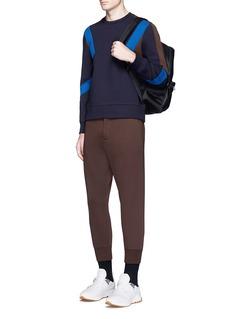 Neil Barrett'Retro Modernist' neoprene sweatshirt