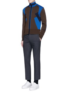 Neil Barrett'Retro Modernist' tech knit track jacket