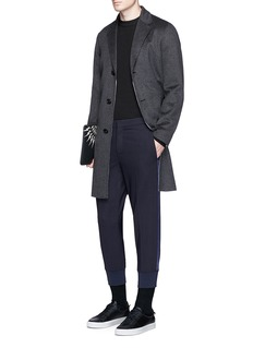 Neil Barrett Slim fit satin stripe jogging pants