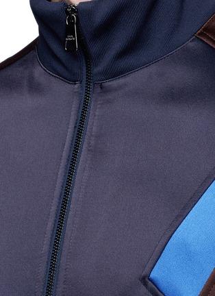 Detail View - Click To Enlarge - Neil Barrett - 'Retro Modernist' colourblock blouson satin jacket
