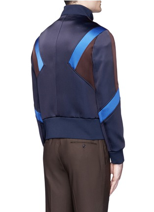 Back View - Click To Enlarge - Neil Barrett - 'Retro Modernist' colourblock blouson satin jacket