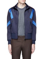 'Retro Modernist' colourblock blouson satin jacket