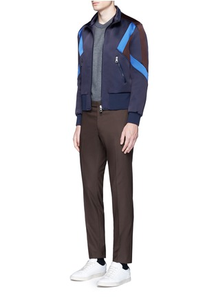 Figure View - Click To Enlarge - Neil Barrett - 'Retro Modernist' colourblock blouson satin jacket