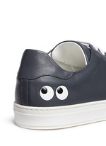 'Eyes' leather tennis shoes
