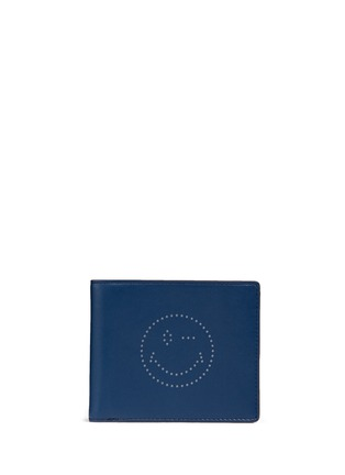 Main View - Click To Enlarge - Anya Hindmarch - 'Wink' perforated leather bifold wallet