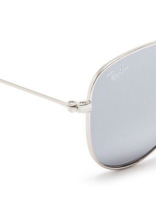 Detail View - Click To Enlarge - Ray-Ban - 'Aviator Junior' metal mirror sunglasses