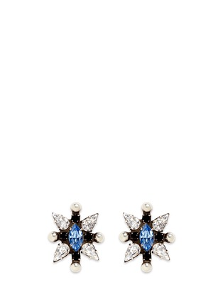 Main View - Click To Enlarge - Dannijo - 'Linella' Swarovski crystal stud earrings
