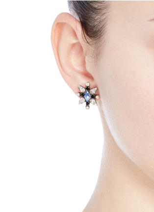 Figure View - Click To Enlarge - Dannijo - 'Linella' Swarovski crystal stud earrings