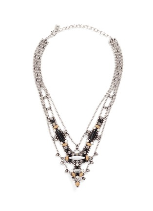 Main View - Click To Enlarge - Dannijo - 'Basel' Swarovski crystal bead chain necklace