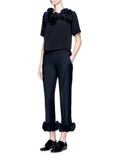 VICTORIA, VICTORIA BECKHAM3D flower wool blend pants