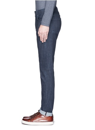 Detail View - Click To Enlarge - ISAIA - Logo charm stretch selvedge jeans