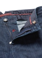 Logo charm stretch selvedge jeans