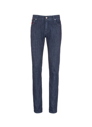 Main View - Click To Enlarge - ISAIA - Logo charm stretch selvedge jeans