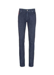 ISAIA Logo charm stretch selvedge jeans